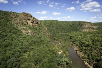 1 - Lephalale River with steep cliffs and deep pools